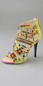 Giuseppe Zanotti Shoes Strass Suede Caged Sandals Swarovski